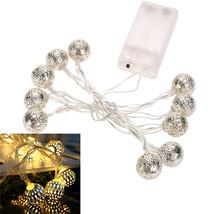 (20 LED white warm)10 LED Battery Operated Heart Shaped Christmas String... - $18.00