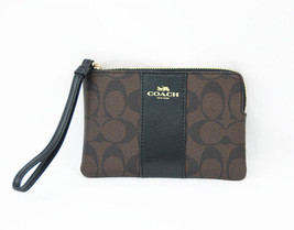 New Coach Zip Wristlet F58035 In Signature Coated Canvas With Gift Box - $31.68