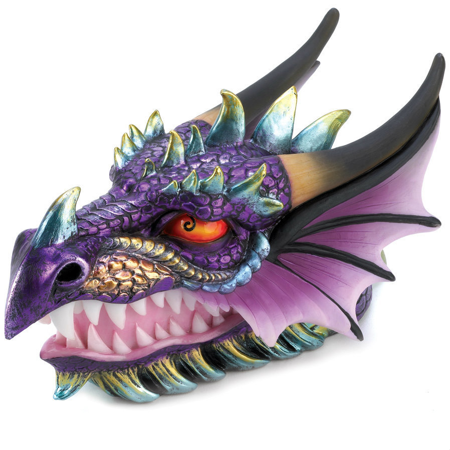Colorful Ornate Dragon Head Trinket Box