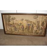 Vintage Antique Belgium Tapestry Framed Arabian Nights Scenes - $257.39