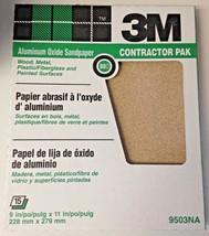 "3M 9503NA 9"" x 11"" 80D Grit Aluminum Oxide Sandpaper 15 Sheets - $6.93"