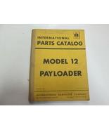 Internazionale Modello 12 Paga Carico Payloader Catalogo Ricambi Manuale... - $39.58