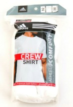 Adidas White Short Sleeve Crew Neck Tee Shirt 2 Pack New in Package Men's  - $18.74
