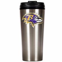 Baltimore Ravens Primary Logo 16 oz Stainless Steel Travel Mug Tumbler Cup - $19.95