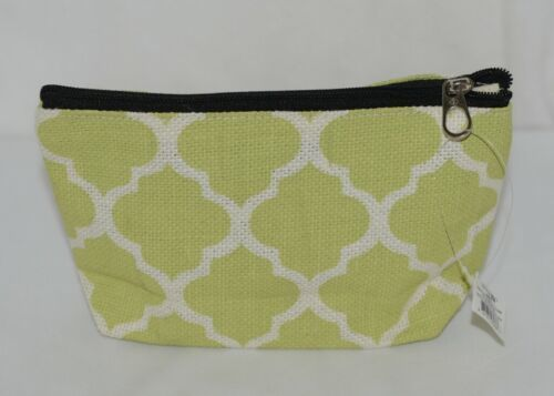 Ganz Style 101 ER32114 Lime Green White Geometric Design Cosmetic Bag