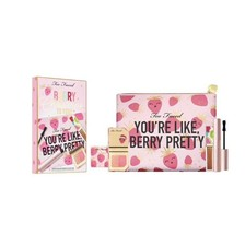 Too Faced Berry Christmas Limited Ed Set Strobeberry Blush, Lip Gloss, M... - $32.00