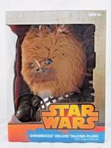 "Star Wars 15"" Chewbacca Deluxe Talking Plush, Disney, Underground Toys, New - $44.50"
