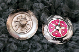 """Silver Star Concho Pink enamel accent NEW by Action Company 1 1/2"""" Set of 4 image 2"""
