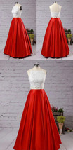 Red Full Pleated Maxi Taffeta Skirt Lady Taffeta Maxi Party Prom Skirt Plus Size image 4