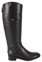 NEW Tory Burch Claremont Black Quilted Leather Tall Boots Shoes SZ 11 - $399.00