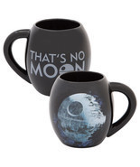 Classic Star Wars Death Star That's No Moon 18 oz. Black Oval Ceramic Mu... - $11.64