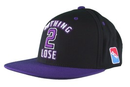 DGK Dirty Ghetto Kids Black Purple Nothing To 2 Lose Snapback Baseball Hat NWT image 2