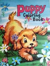 Puppy Dog Big Little Coloring Book Vintage NOS Saalfield Artcraft No 180... - $29.65