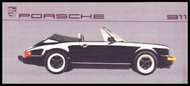 1987 Porsche 911 Dealer Sales Brochure MINT, FREE SHIP - $12.96