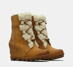 Sorel Women's Joan Of Arctic Wedge II Shearling NEW AUTHENTIC Camel NL30... - $199.99