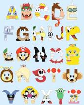 Cross Stitch Pattern Super mario bros abc alphabet 222 * 279 stitches BN846 - $3.99
