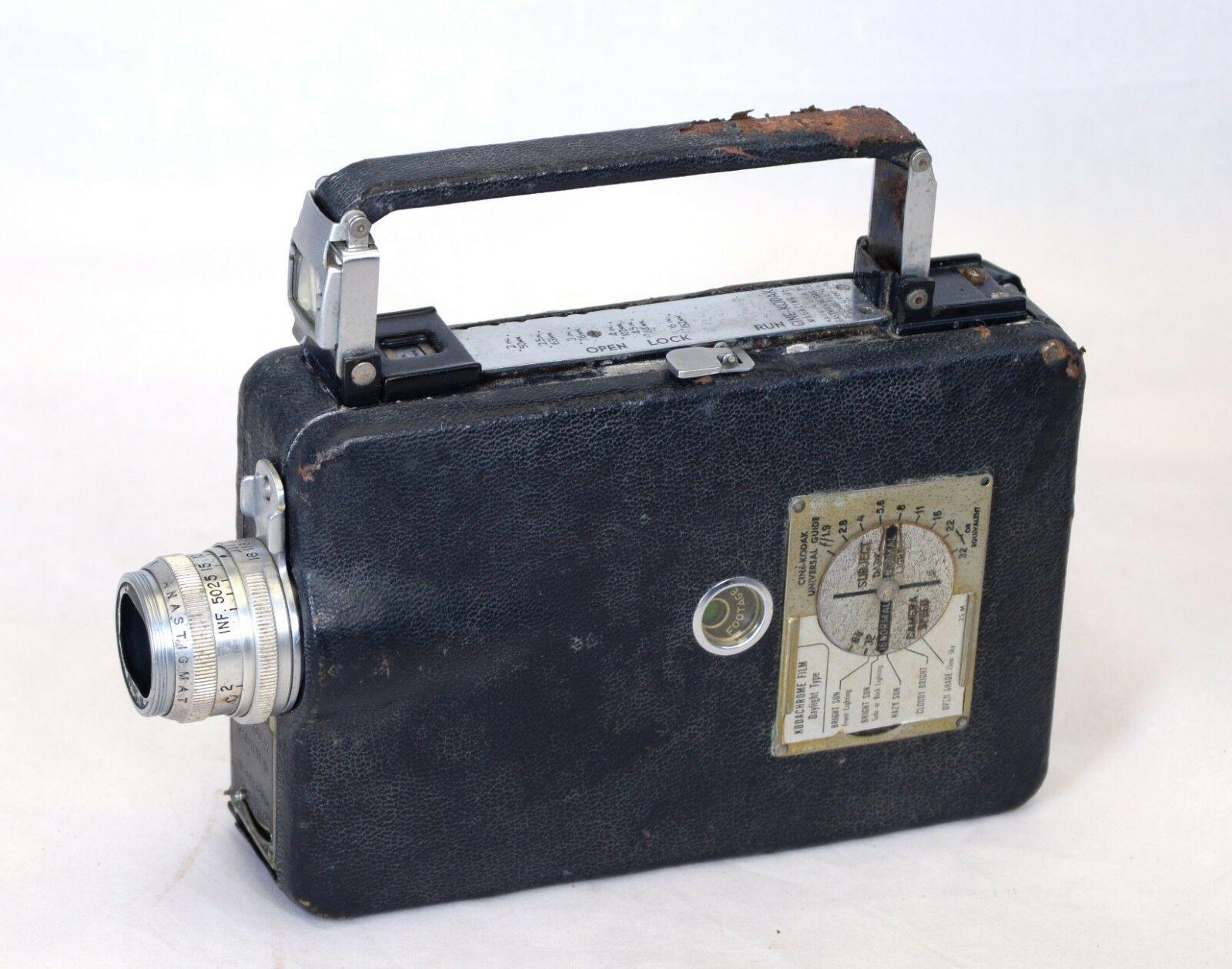 Eastman KODAK CINE Magazine 16 Vintage Film Movie Camera  USA  AS IS