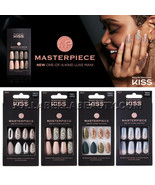 Kiss Masterpiece Press On Nails Gel Manicure Design Stone Long Square St... - $11.95