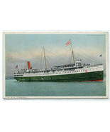 SS Tionesta Great Lakes Steamer Detroit Michigan 1916 Phostint postcard - $6.93