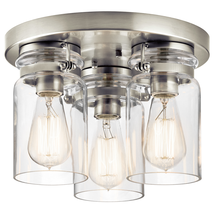 Kichler 42891NI Brinley Flush Mounts 11in Nickel Tones STEEL 3-light - $229.99