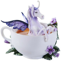 Pacific Giftware Amy Brown Enchanted Unicorn Tea Cup Fantasy Art Figurine - $27.22