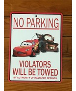 Estate Small Disney Pixar Metal Lightning McQueen & Mater CARS NO PARKIN... - $14.89