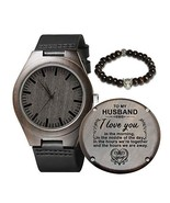 Engraved Wooden Watch for Husband,Natural Wooden Watch for Men Natural E... - $32.76
