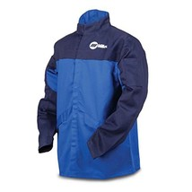 Welding Jacket, Royal/NVY, Ctn INDURA, XL - $41.55
