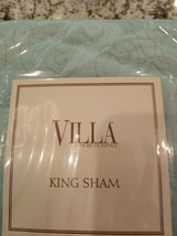 NEW MSRP $29 Villa by Noble Excellence San Marino King Pillow Sham   - $14.99