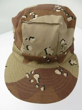 Brown Camouflage Made in USA Fitted M Adult Ball Cap Hat - $12.86