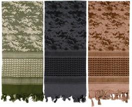 Digital Camouflage Heavyweight Arab Desert Tactical Army Shemagh Keffiye... - $11.99