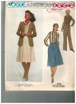 1619 non Découpé Vintage Vogue Patron de Couture Femmes Veste Chemise Jupe - $4.84