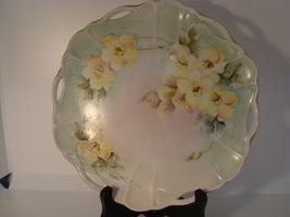 Hand painted porcelain floral cabinet dish signed nancy - $25.00