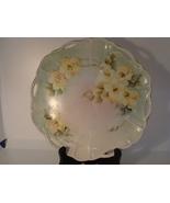 Hand painted porcelain floral cabinet dish signed nancy - $15.00
