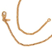"""18K ROSE GOLD CHAIN FINELY WORKED SPHERES 1.5 MM DIAMOND CUT BALLS, 16"""", 40 CM image 1"""