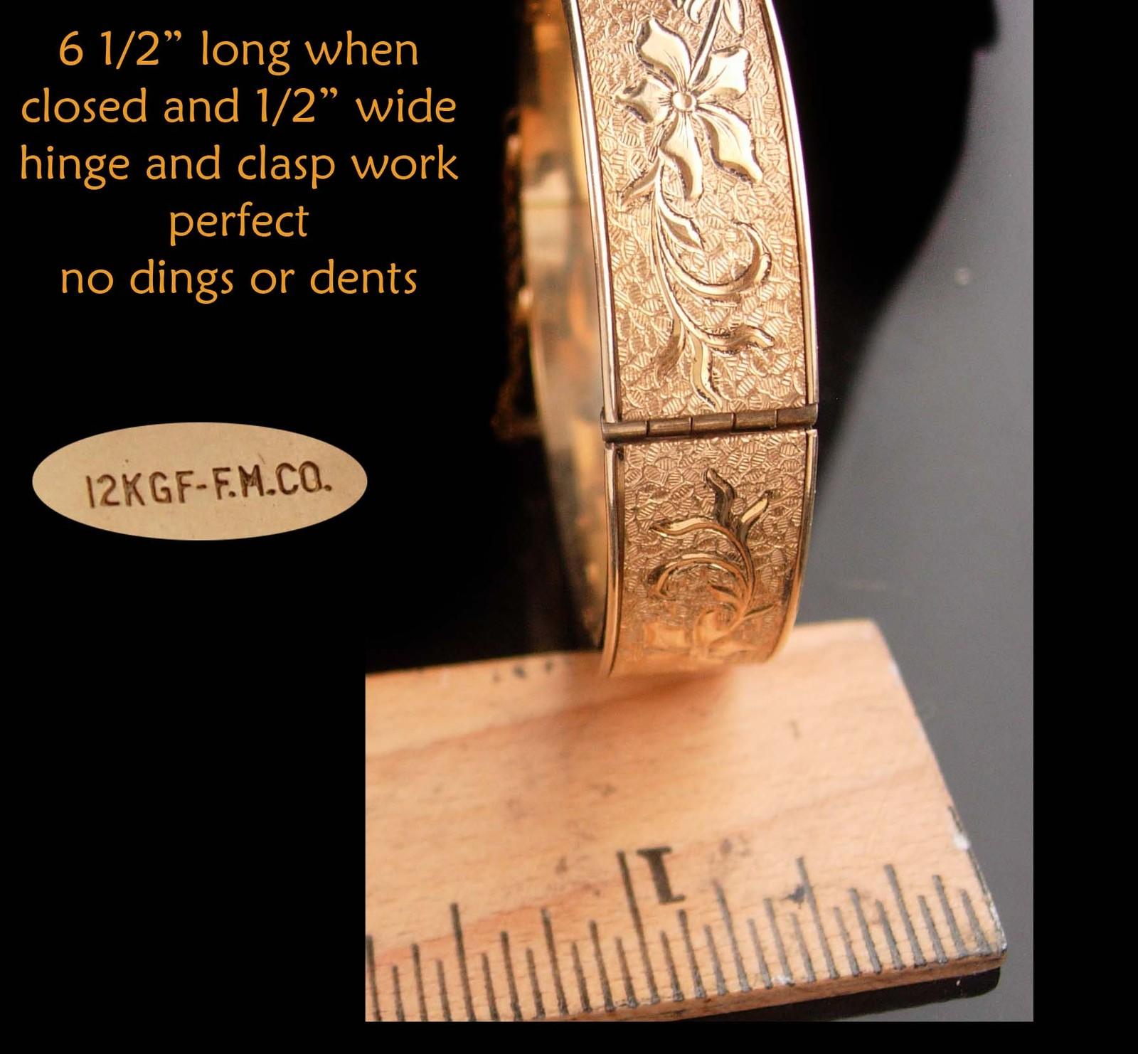 1900s Victorian bracelet - antique gold filled bangle - Antique bracelet 12kt  image 5