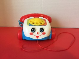 2000 Fisher Price Pull Along Chatter Box Telephone Toy Gift Pull Toy - $7.70