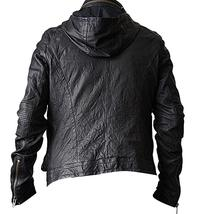 Mission Impossible Ghost Protocol Tom Cruise Black Hooded Genuine Leather Jacket image 3