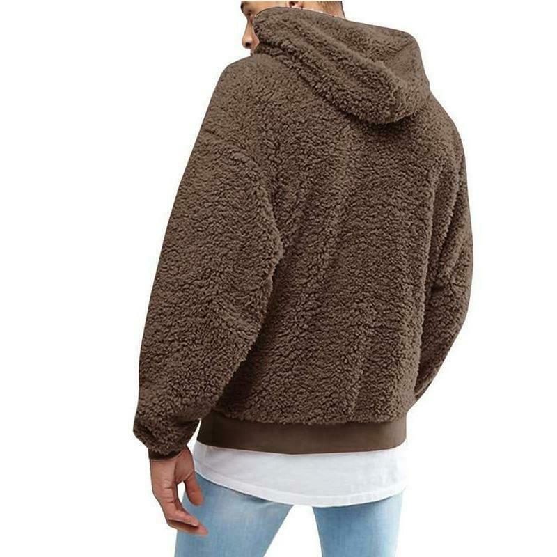 Primary image for Men's Fluffy Fleece Winter Warm Coat Hoodie Hooded Jacket Casual Sweatshirt
