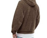 Men's Fluffy Fleece Winter Warm Coat Hoodie Hooded Jacket Casual Sweatshirt