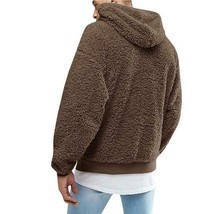 Men's Fluffy Fleece Winter Warm Coat Hoodie Hooded Jacket Casual Sweatshirt - $30.91