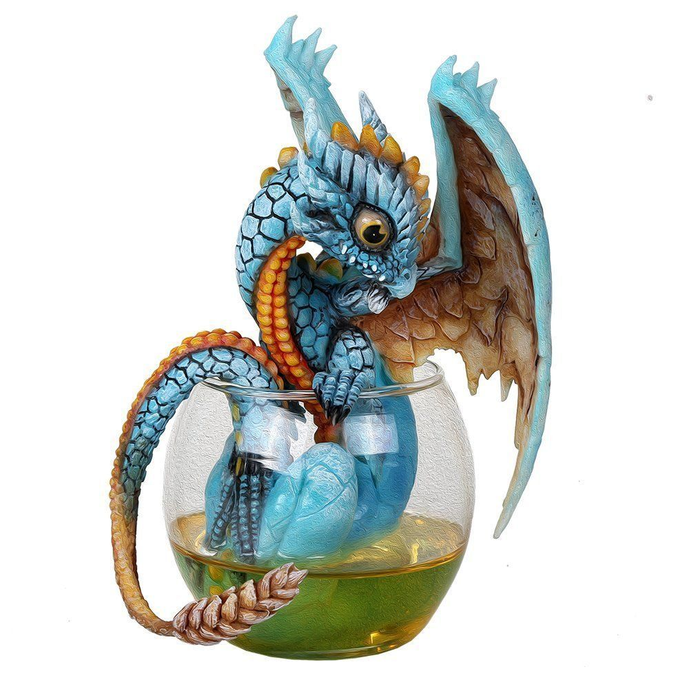 "Primary image for Fantasy Whiskey Dragon Collectible Figurine by Stanley Morrison 6.25""H"