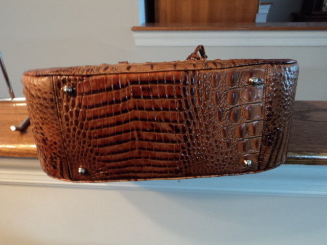 Brahmin Medium Lena Leather Shoulder Bag Toasted Almond Melbourne NWT G Receipt