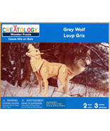 CREATOLOGY Wooden Puzzle Grey Wolf Factory Sealed - $8.99