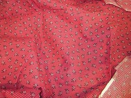 FABRIC TRADITIONS CHRISTMAS FABRIC RED AND WHITE WITH HOLLY BRAND NEW - $9.99