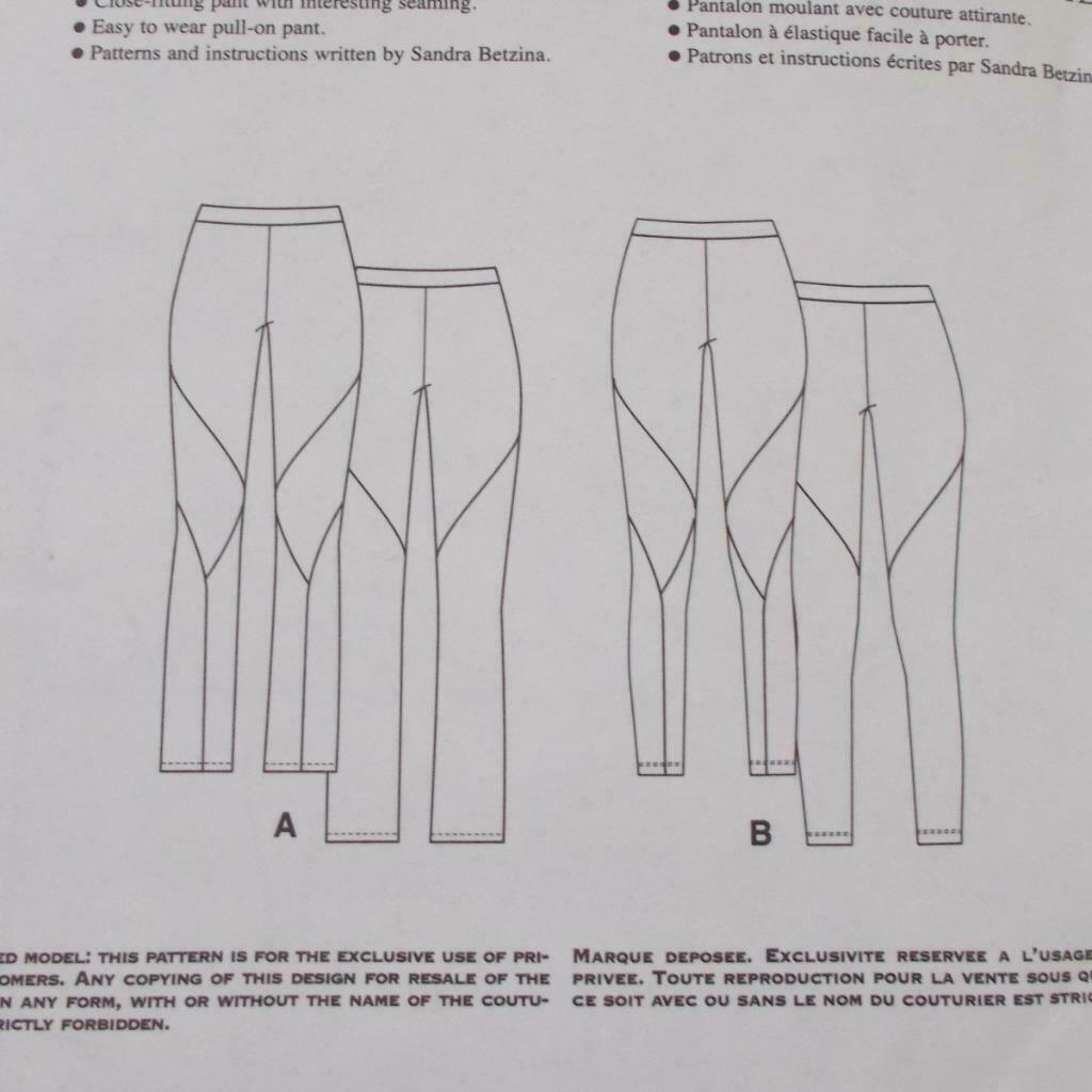 Todays Fit Vogue Pants Pattern V1411 Sandra Betzina Size OSZ Uncut image 8