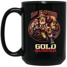 San Francisco 49ers Coffee Mug | 49ers Mug | Gold Blooded Player | 15 oz Ceramic - $13.99