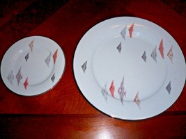 Vintage RC Japan Fine China Tropical Fish Dinner Plate and Bread Plate - $9.46
