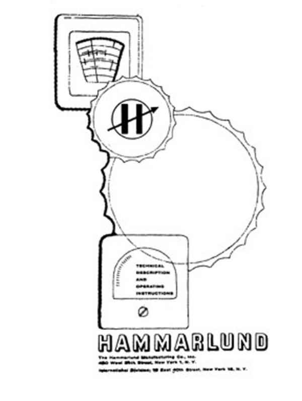 Hammarlund Service and Operating Manuals * PDF * CDROM