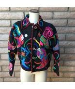 Michael Simon Cache Black Cardigan Sweater Western Cowboy Boots Bold Col... - $123.74